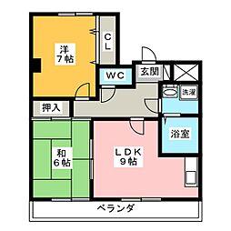 プレイス戸田[2階]の間取り