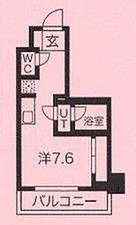 クラリッサ川崎グランデ 7階ワンルームの間取り