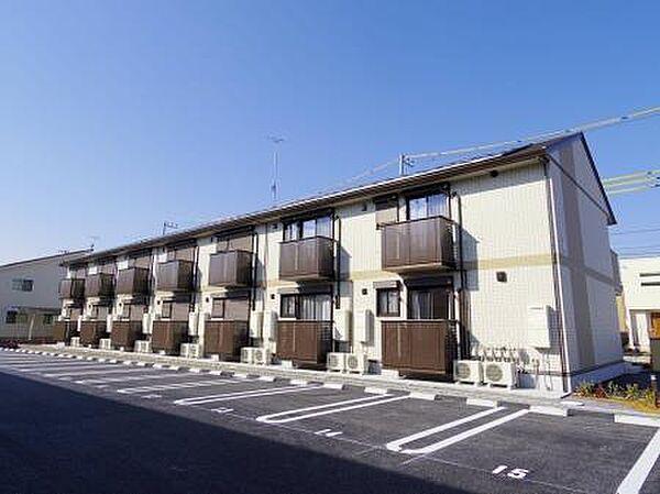 茨城県つくば市研究学園2丁目の賃貸アパートの外観