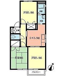 TOKUHOUSE[1階]の間取り