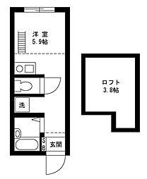戸塚区上矢部アパートメントB棟[202号室]の間取り