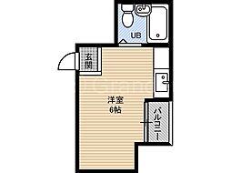グレーシィ都島[3階]の間取り