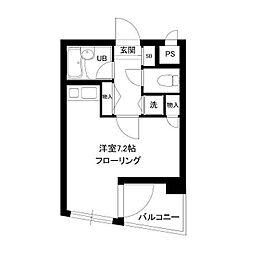 S.K.Yマンション[4階]の間取り