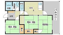 岩崎マンション[201号室]の間取り