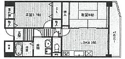 グレイスコート武庫之荘[203号室]の間取り