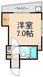 東京都台東区元浅草2丁目の賃貸マンションの間取り
