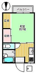 タマガワハイツ[2階]の間取り