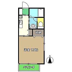 高知県高知市比島町4丁目の賃貸アパートの間取り