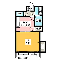 ル・ロシャンテール[8階]の間取り