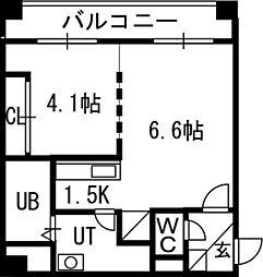 S−FORT北円山[902号室]の間取り