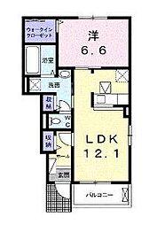 メゾンプラシードIV[1階]の間取り