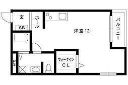 OPUS ONE OKAMOTO[101号室]の間取り