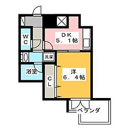 静岡県静岡市葵区茶町2丁目の賃貸マンションの間取り