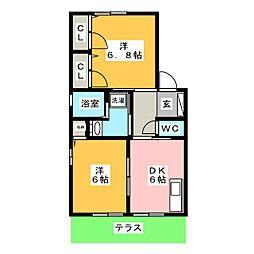 ファミーユC[1階]の間取り