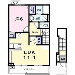 ブランドーレA[2階]の間取り