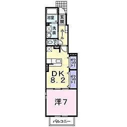 愛知県岡崎市羽根町の賃貸アパートの間取り