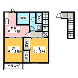 コートヤードI[2階]の間取り