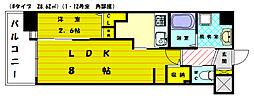 ロイヤルシティ福間駅前[3階]の間取り