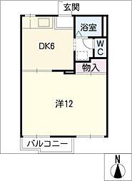 シードルング三好東山[2階]の間取り