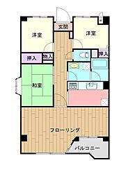 埼玉県さいたま市中央区本町東3丁目の賃貸マンションの間取り