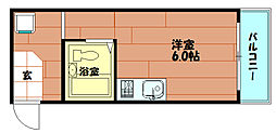 コウエイ阿波座[6階]の間取り