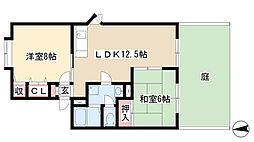 愛知県名古屋市名東区平和が丘5丁目の賃貸アパートの間取り