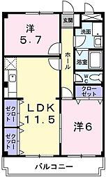 ベイビレッジINOUE[2階]の間取り