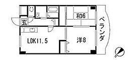 リバーサイド西口[5階]の間取り