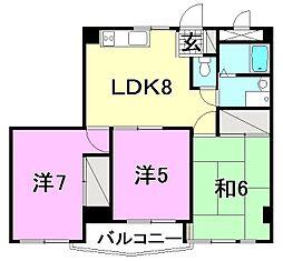 ビージョイマンション5号館[907 号室号室]の間取り