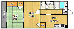 メゾンフルール[3階]の間取り