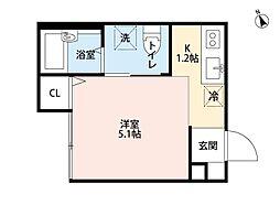 千葉県松戸市新松戸北2の賃貸アパートの間取り