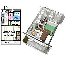 東京都墨田区東向島4丁目の賃貸マンションの間取り