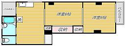 新カシワギマンション[1階]の間取り