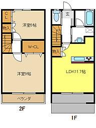 [テラスハウス] 愛知県名古屋市名東区大針3丁目 の賃貸【/】の間取り