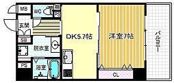 ノートアール107[5階]の間取り