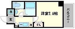 レジュールアッシュ難波MINAMI 5階1Kの間取り