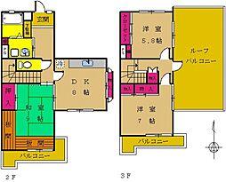 東京都町田市南成瀬5丁目の賃貸マンションの間取り