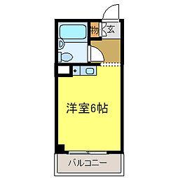 ドムス河内長野[402号室]の間取り