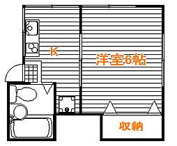 東京都板橋区中台2丁目の賃貸アパートの間取り