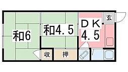 千代田荘[17号室]の間取り