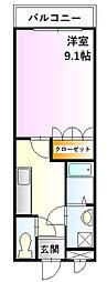 グランドパレス堀越[1階]の間取り