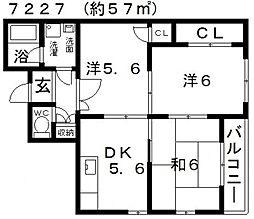 JPアパートメント藤井寺2[301号室号室]の間取り