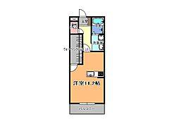 JR東北本線 宇都宮駅 徒歩10分の賃貸マンション 5階1Kの間取り