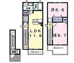 [テラスハウス] 滋賀県近江八幡市堀上町 の賃貸【/】の間取り