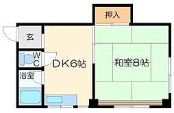 ニューコバヤシマンション[4階]の間取り