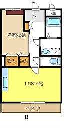 愛知県名古屋市緑区砂田2丁目の賃貸マンションの間取り