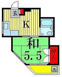 ハイツカワシマ[403号室]の間取り