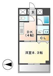 グランディール163[2階]の間取り