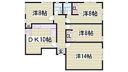 サドワニマンション[1-B号室]の間取り