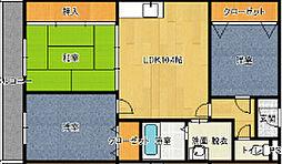 クレアジオーネ岸和田[4階]の間取り